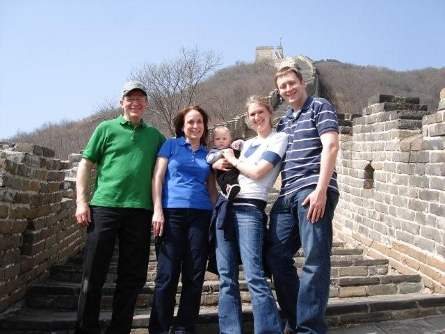 My family (with parents) on the Great Wall