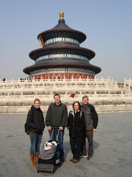 Our family in front of the Temple of Heaven