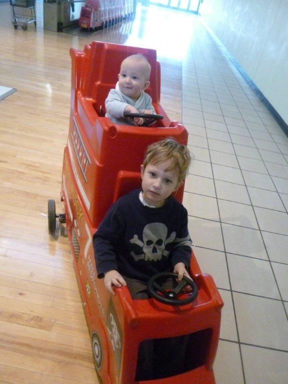 Boys in cars